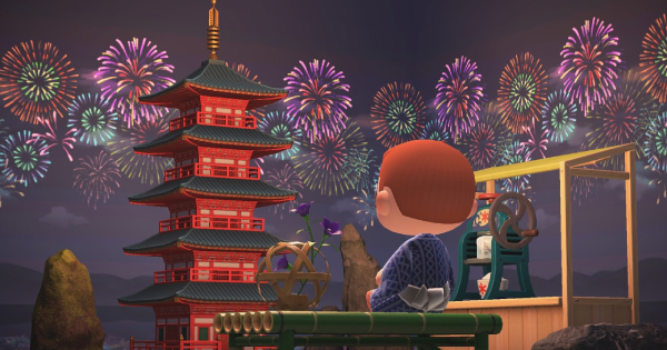 Fireworks-show Wall | Animal Crossing (ACNH) - GameWith