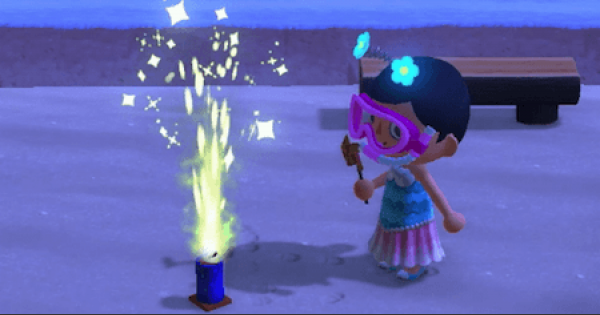 Fountain Firework - How To Get | Animal Crossing (ACNH) - GameWith