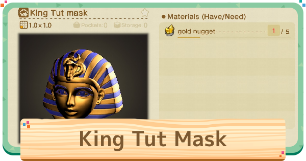 King Tut Mask - Tripping & How To Get | Animal Crossing (ACNH) - GameWith