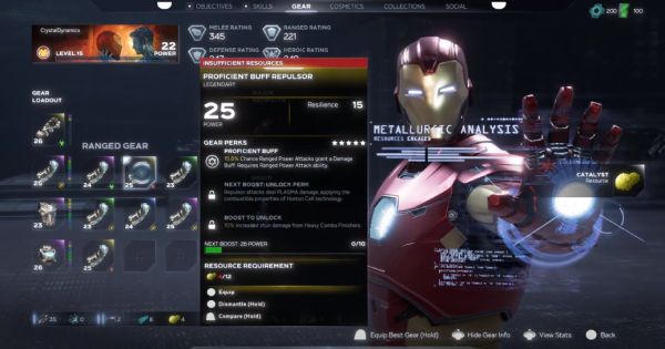 Marvel's Avengers | All Gear -  Perks & Stats List - GameWith