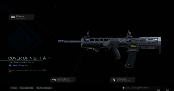 Warzone   Cover Of Night LMG Blueprint - Stats & How To Get   Call of Duty Modern Warfare - GameWith