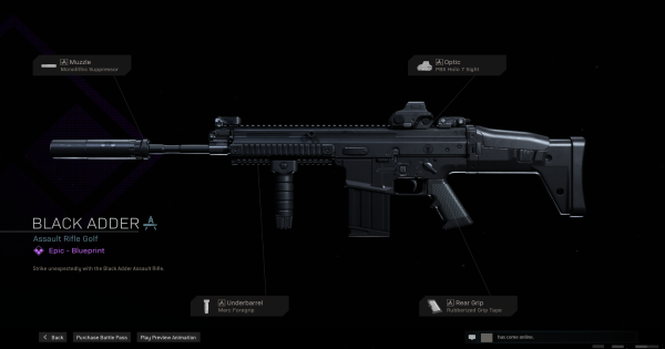 Warzone   Black Adder AR Blueprint - Stats & How To Get   Call of Duty Modern Warfare - GameWith