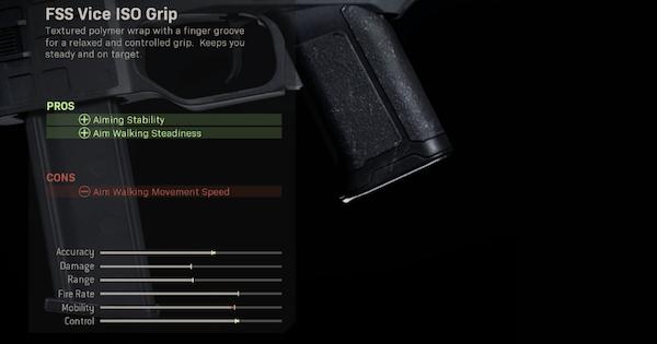 Warzone | FSS Vice ISO Grip - Rear Grip Stats | Call of Duty Modern Warfare - GameWith