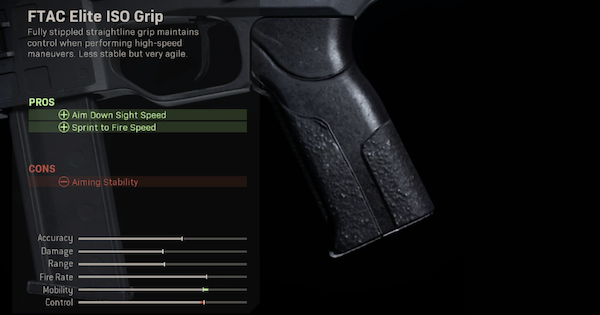 Warzone | FTAC Elite ISO Grip - Rear Grip Stats | Call of Duty Modern Warfare - GameWith
