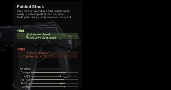 Warzone | Folded Stock - Stock Stats | Call of Duty Modern Warfare - GameWith