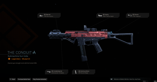 Warzone | The Conduit SMG Blueprint - Stats & How To Get | Call of Duty Modern Warfare - GameWith