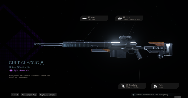 Warzone | Cult Classic Sniper Rifle  Blueprint - Stats & How To Get | Call of Duty Modern Warfare - GameWith