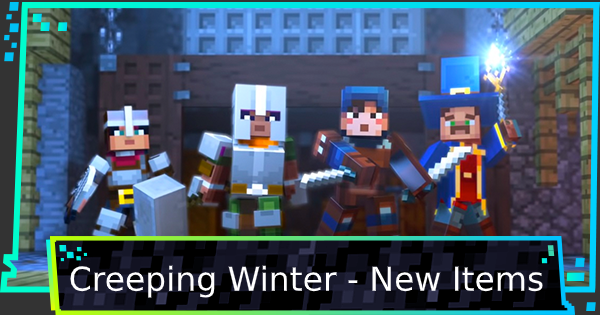 Minecraft Dungeons | Creeping Winter - New Weapons & Items - GameWith