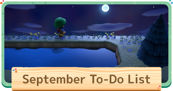 September To Do List | Animal Crossing (ACNH) - GameWith