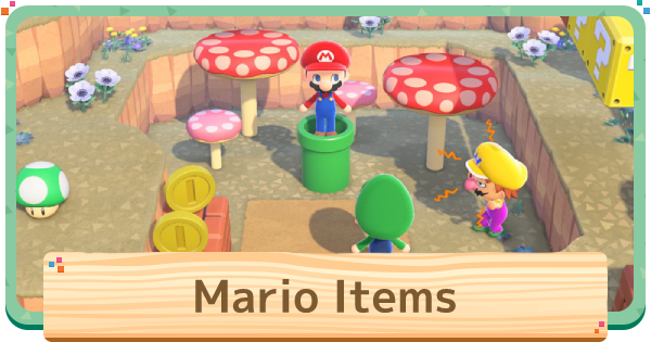 Mario Items - Mario Collaboration Event Info