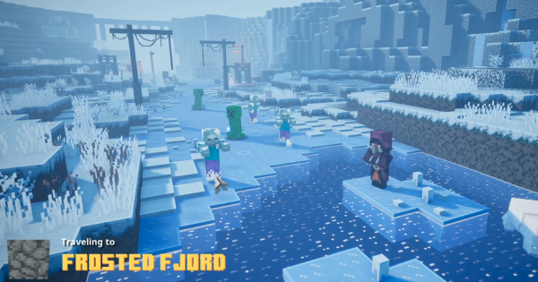 Minecraft Dungeons | Frosted Fjord - Secret Level & Unique Drops | Creeping Winter - GameWith
