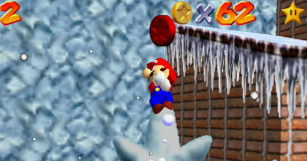 Frosty Slide For 8 Red Coins Walkthrough Guide | Super Mario 64 Switch - GameWith