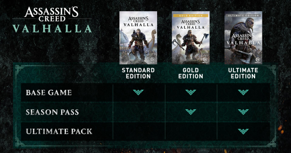 Assassin's Creed Valhalla | Editions Comparison (Ultimate, Gold, Collector's, Standard) - GameWith