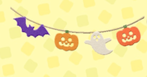 ACNH | Spooky Garland - How To Get | Animal Crossing - GameWith