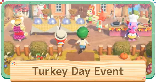 ACNH | Turkey Day (Thanksgiving) - Update & Event Date | Animal Crossing - GameWith