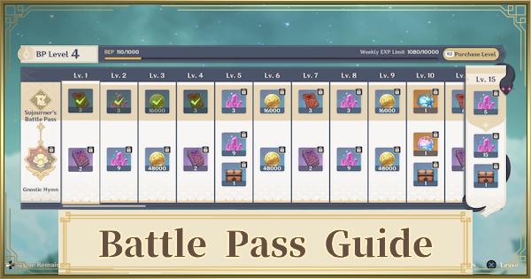 Battle Pass Guide - Weapon & Rewards | Genshin Impact - GameWith