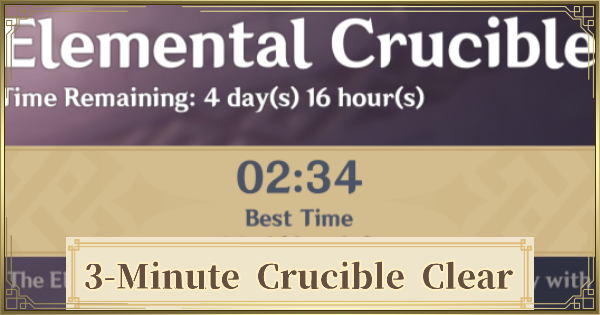 How To Beat Elemental Crucible In 3 Minutes Guide   Genshin Impact - GameWith