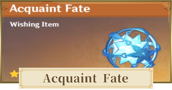 Acquaint Fate - How To Get & Farm | Genshin Impact - GameWith