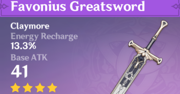 Favonius Greatsword - How To Get & Stats | Genshin Impact - GameWith