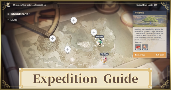 Expedition Guide - Character Limit & Rewards | Genshin Impact - GameWith