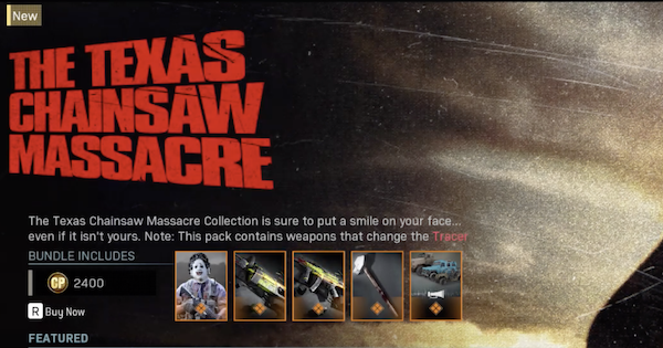 Warzone | Leatherface: The Texas Chainsaw Massacre - Bundle Contents | Call of Duty Modern Warfare - GameWith