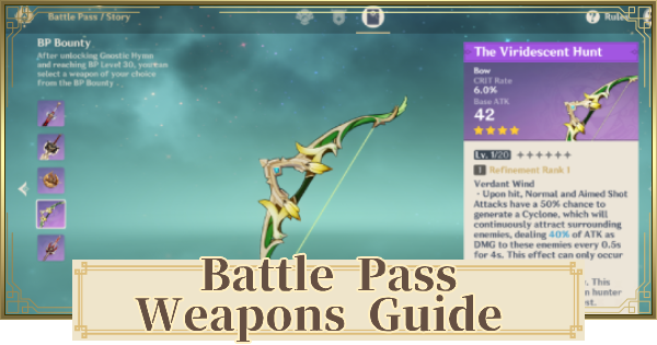 Best Battle Pass Weapon - Which BP Weapon Should You Choose? | Genshin Impact - GameWith