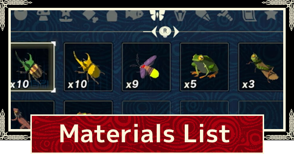 Age of Calamity | Materials / Items List & How To Get | Hyrule Warriors - GameWith