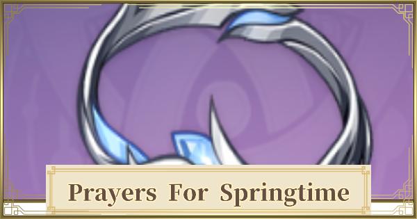 Prayers to Springtime Set - Location & Stats | Genshin Impact - GameWith