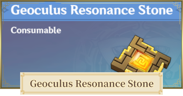 Geoculus Resonance Stone - How To Get & How To Use | Genshin Impact - GameWith