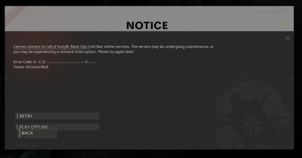Call of Duty: Cold War | Servers Down - BLZBNTBGS000003F8 Error Code | Black Ops Cold War - GameWith