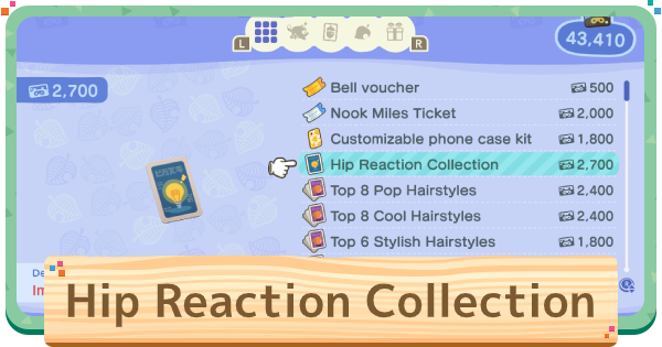 Hip Reaction Collection Guide