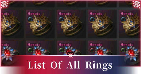 A3: STILL ALIVE | All Rings List - Stats & How To Get - GameWith