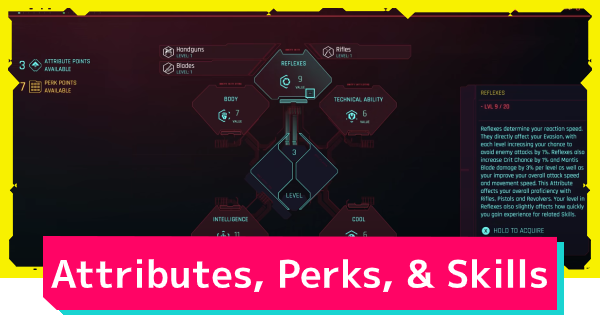 Cyberpunk 2077 | Attributes, Skills, & Perks Guide - Differences - GameWith