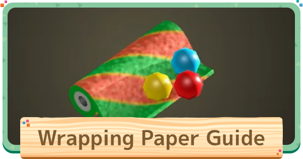 ACNH | Wrapping Paper - How To Get & Use | Animal Crossing - GameWith