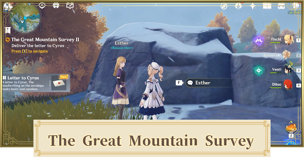 The Great Mountain Survey I & II World Quest Walkthrough Guide | Genshin Impact - GameWith