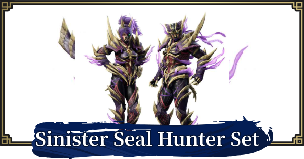 Sinister Seal Hunter - How To Get | MONSTER HUNTER RISE - GameWith