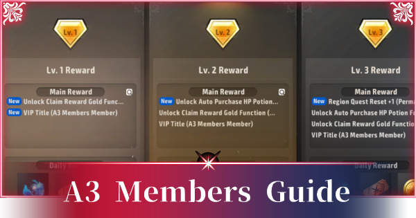 A3: STILL ALIVE | A3 Members Guide - Levels & List Of Rewards - GameWith