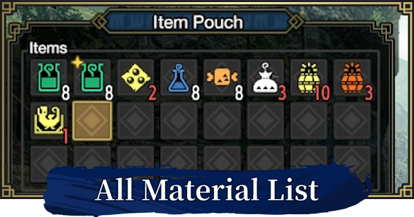 MONSTER HUNTER RISE | All Material List - How To Get All Items | MH Rise - GameWith