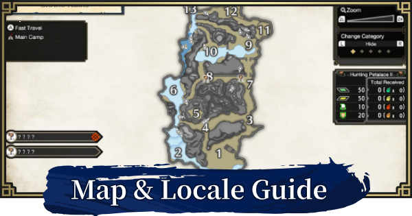 MONSTER HUNTER RISE | Map Guide - All Locales | MH Rise - GameWith