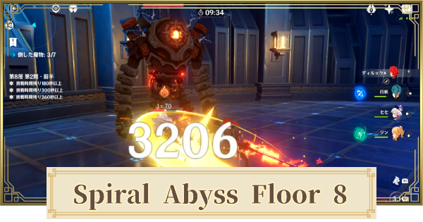 Spiral Abyss Floor 8 Walkthrough Guide - Monsters & Best Party | Genshin Impact - GameWith