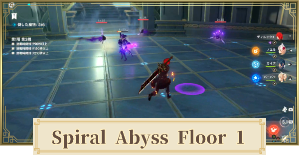 Spiral Abyss Floor 1 Walkthrough Guide - Monsters & Best Party | Genshin Impact - GameWith