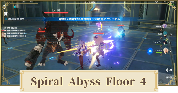 Spiral Abyss Floor 4 Walkthrough Guide - Monsters & Best Party | Genshin Impact - GameWith