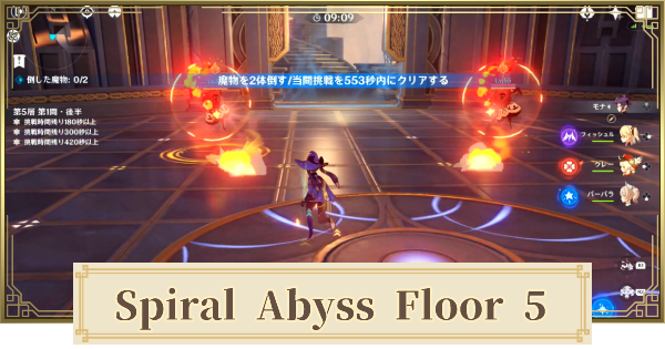 Spiral Abyss Floor 5 Walkthrough Guide - Enemies & Best Party | Genshin Impact - GameWith