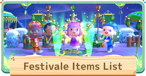 ACNH | Festivale Items List - All Furniture | Animal Crossing - GameWith