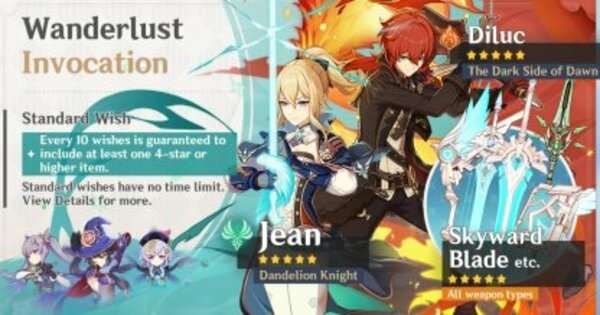 Jean Banner - Release Date & 4 Star Characters | Genshin Impact - GameWith