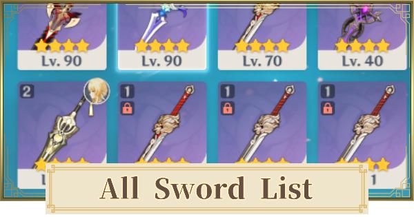 All Sword List | Genshin Impact - GameWith