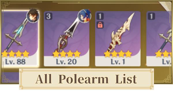 All Polearm List | Genshin Impact - GameWith