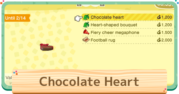 ACNH | Chocolate Heart - How To Get | Animal Crossing - GameWith