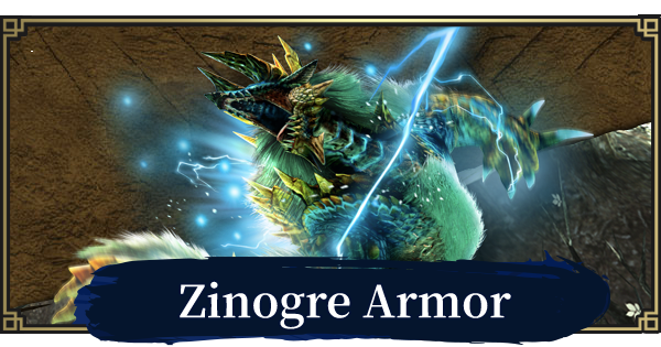 MONSTER HUNTER RISE | Zinogre Armor & Weapons | MH Rise - GameWith