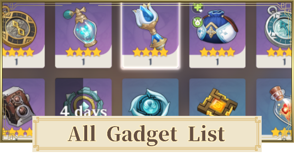 Gadget List - How To Get & Unlock | Genshin Impact - GameWith